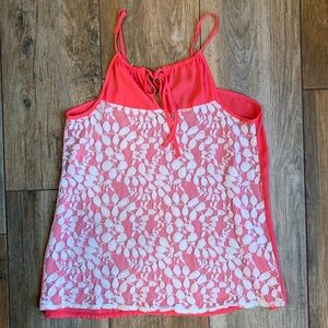 Pink Patterned Tank Top